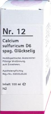 NR.12 Calcium sulfuricum D 6 spag.Glückselig