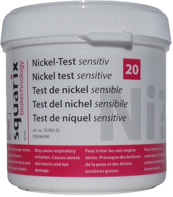 NICKEL Test sensitiv