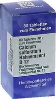 BIOCHEMIE 18 Calcium sulfuratum D 12 Tabletten