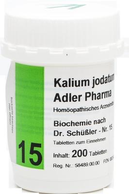 BIOCHEMIE Adler 15 Kalium jodatum D 12 Tabletten
