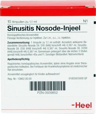 SINUSITIS Nosode Injeel Ampullen