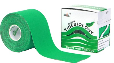 NASARA Kinesiotape 5 cmx5 m grün