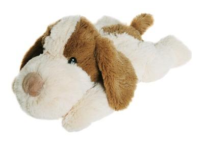 WÄRME STOFFTIER Beddy Bear Hund Boris hellbraun