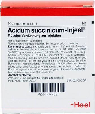 ACIDUM SUCCINICUM INJEEL Ampullen