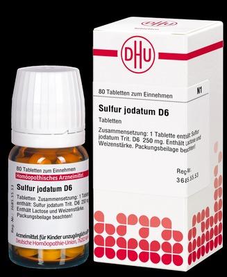 SULFUR JODATUM D 6 Tabletten
