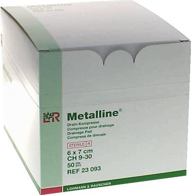 METALLINE Drain Kompressen 6x7 cm