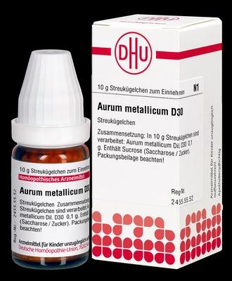 AURUM METALLICUM D 30 Globuli