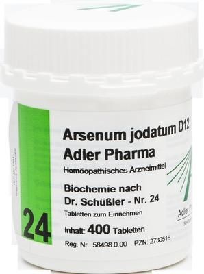 BIOCHEMIE Adler 24 Arsenum jodatum D 12 Tabletten
