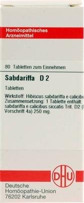 SABDARIFFA D 2 Tabletten