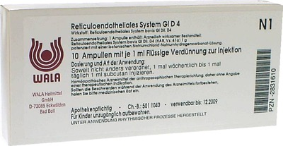 RETICULOENDOTHELIALES SYS. GL D 4 Ampullen