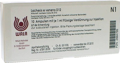 LACHESIS E veneno GL D 12 Ampullen