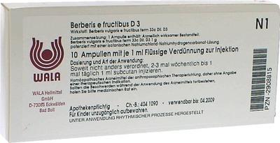 BERBERIS E fructibus D 3 Ampullen