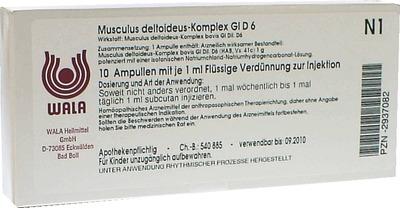 WALA Heilmittel GmbH MUSCULUS DELTOIDEUS Komplex GL D 6 Ampullen 02937082