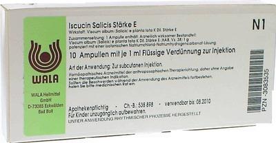 ISCUCIN salicis Stärke E Ampullen