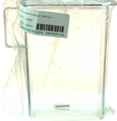 URINSAMMELGLAS 2000 ml Kunststoff m.Deckel