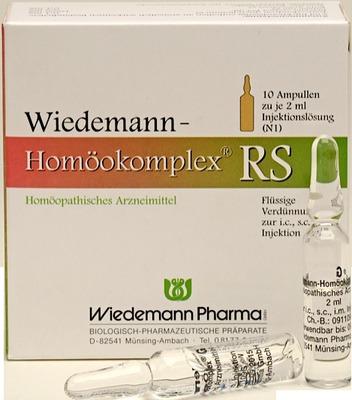 Wiedemann Pharma GmbH WIEDEMANN Homöokomplex RS Ampullen 03191549