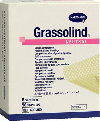 GRASSOLIND Salbenkompressen 5x5 cm steril