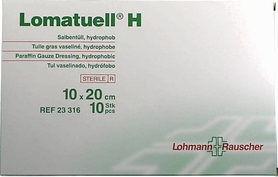 LOMATUELL H Salbentüll 10x20 cm steril