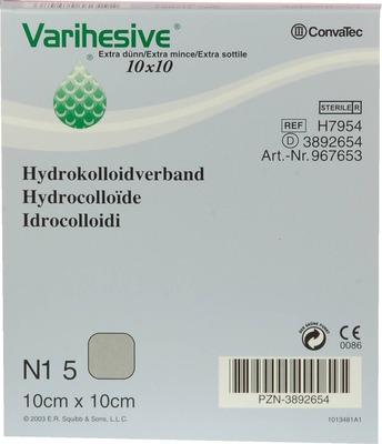 VARIHESIVE extra dünn 10x10 cm HKV hydroaktiv
