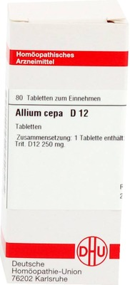 ALLIUM CEPA D 12 Tabletten