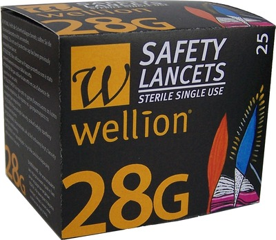 WELLION Safetylancets 28 G Sicherheitseinmallanz.