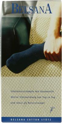 BELSANA Cotton Stütz-Kniestrumpf AD Gr.4 schwarz