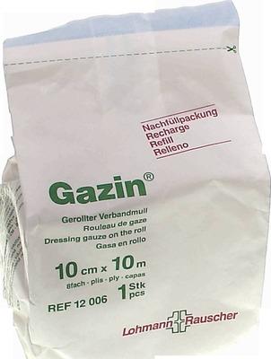 GAZIN Verbandmull 10 cmx10 m 8fach Nachf.