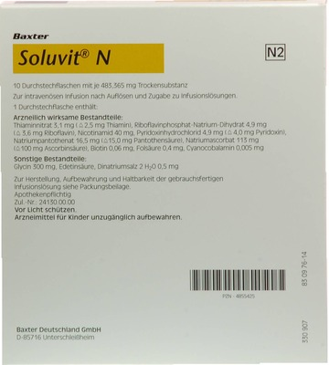 SOLUVIT N Plv.f.e.Konz.z.Her.e.Infusionslösung
