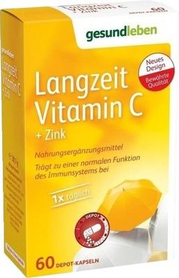 Gesund Leben Langzeit Vitamin C+Zink Kapseln