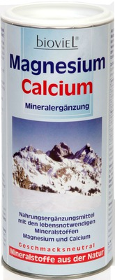 MAGNESIUM CALCIUM Mineralergänzung Bioviel Pulver