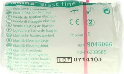 ASKINA Elast Fine Binde 6 cmx4 m cellophaniert