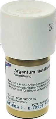 ARGENTUM METALLICUM praeparatum D 10 Trituration