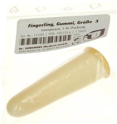 FINGERLING Gummi Gr.3 transparent