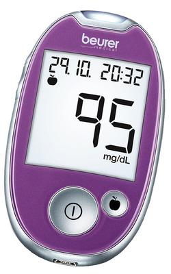 BEURER GL44 Blutzuckermessgerät mmol/l lila