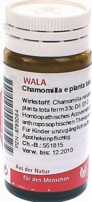 CHAMOMILLA E planta tota D 12 Globuli