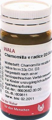 CHAMOMILLA E radice D 3 Globuli