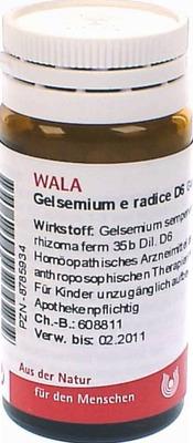 GELSEMIUM E radice D 6 Globuli