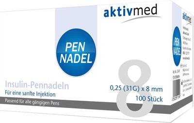PEN NADELN Universal 8 Kanülen 0,26x8 mm
