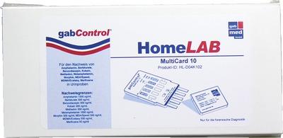 GABCONTROL HomeLAB MultiCard 10 Drogentest