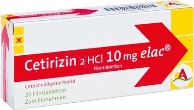 Cetirizindihydrochlorid elac 10mg