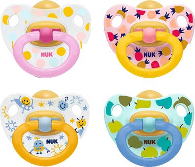 NUK Schnuller Happy Kids Latex 18-36 M