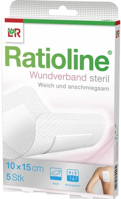Ratioline Wundverband 15x10 Cm Steril
