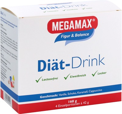 Megamax Diät Drink 4 Geschmacksr.einzelport.pulver