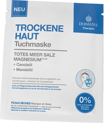 Dermasel Therapie Tuchmaske Trockene Haut Totes Meer Salz